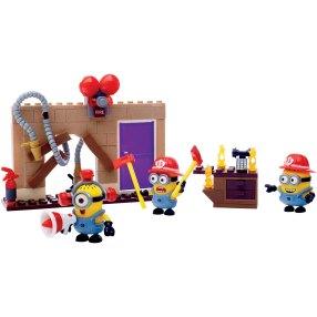 Que tal Imaginar muitas aventuras com o Minions Bombeiros - Megablocks Minion Fire Rescue - BMart