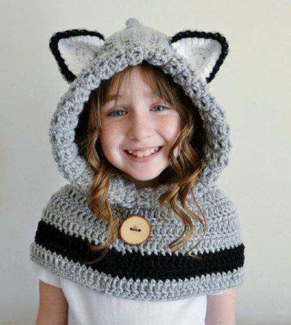 Hooded-Bear-Cowl-Animal-Hat-Hooded-Scarf-font-b-Crochet-b-font-Hoodie-font-b-Shawl